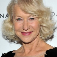 Chic Curly Bob Hairstyle for Older Women Over 60 - Helen Mirren Hairstyles