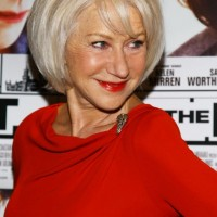 Short Straight Bob Hairstyles for older Women Over 60 - Helen Mirren Hairstyles