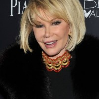 Short Blonde Bob Haircut for Older Women Over 70 - Joan Rivers Bob Hairstyles