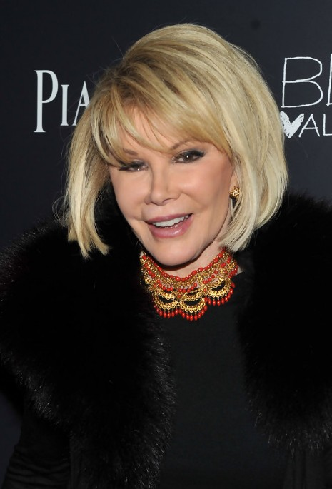 Short Blonde Bob Haircut for Older Women Over 70 - Joan Rivers Bob ...
