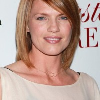 Long Straight Bob Hairstyle With Side Swept Bangs - Kathleen Rose Perkins Hairstyles