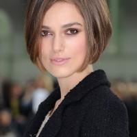 Casual Short Straight Concave Bob Hairstyles - Keira Knightley Bob Haircut