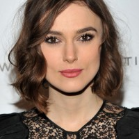 Medium Bob Hairstyle with Curls - Keira Knightley Hairstyles 2014 - 2015