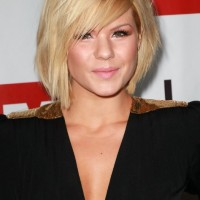 Blonde Bob Hairstyle with Bangs - Trendy Bob Haircuts 2014 - Kimberly Caldwell Hairstyles