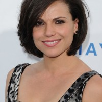 Feminine Bob Haircut for Short Hair - Popular Bob Hairstyles 2014 - Lana Parrilla Haircuts