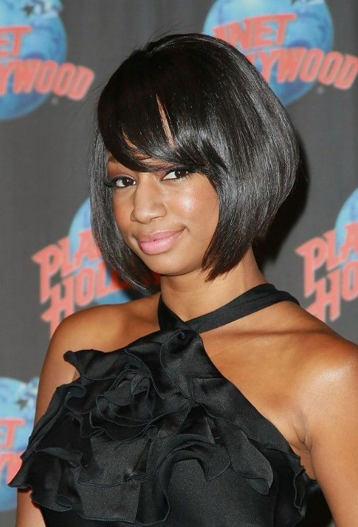 Astounding Short Black Sleek Bob Hairstyle With Bangs For African American Short Hairstyles Gunalazisus