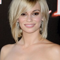 Short Blonde Bob Haircut with Bangs for Thick Hair - Norma Ruiz Hairstyles