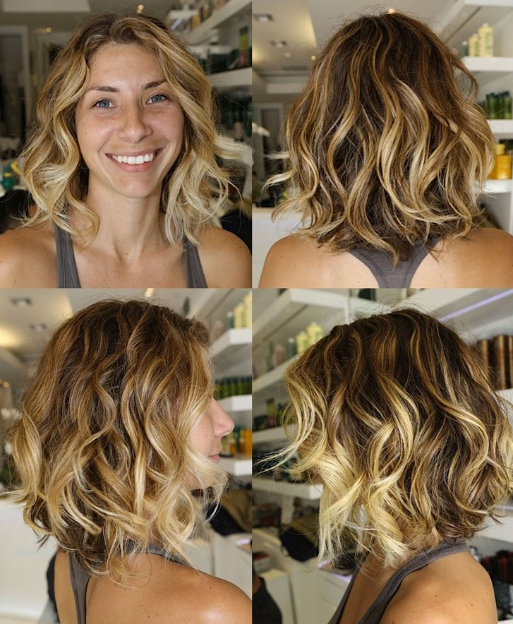 Blonde Ombre Short Hairstyles Haircuts