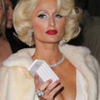 Blonde Curly Bob Hairstyles - Elegant Short Blonde Haircut 2014 - Paris Hilton Hairstyles