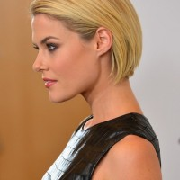 Rachael Taylor Short Blonde Sleek Bob Hairstyle