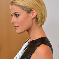 Rachael Taylor Short Blonde Sleek Bob Hairstyle