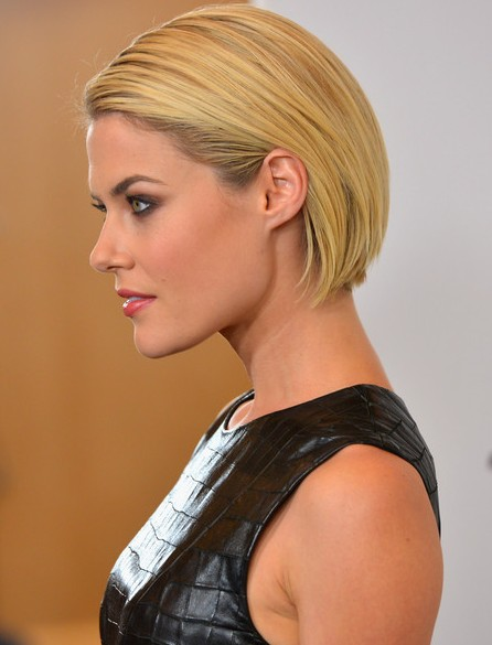 Sensational Short Blonde Sleek Bob Hairstyle Side View Of Rachael Taylor Bob Hairstyles For Women Draintrainus