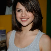 Short Dark Bob Hairstyle with Bangs - 2014 Hairstyles for Girls - Selena Gomez Hairstyles