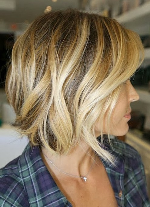 side parted short haircut with long fringe