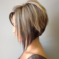 Side View of Graduated Bob Haircut