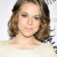 Chic Medium Length Bob Hairstyle with Waves - Tina Majorino Hairstyles