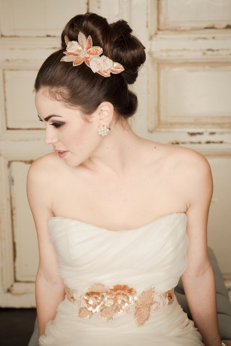 Beautiful Twisted Top Up-do Hairstyle With Flowery Clips