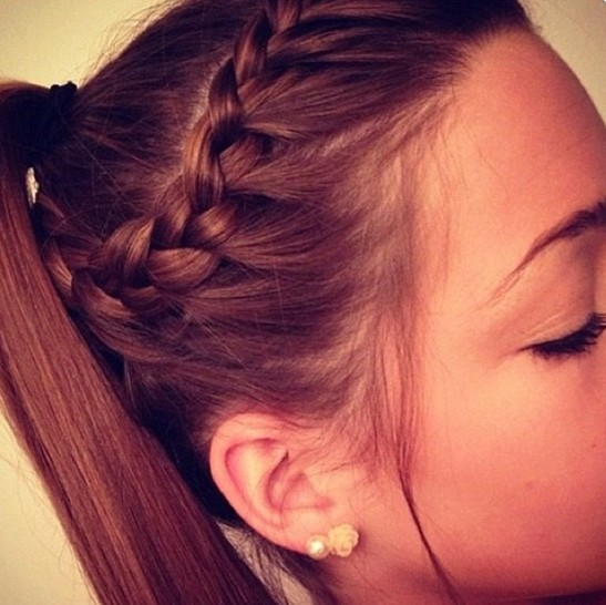 Prime Trendy French Braid Hairstyles For 2014 Pretty Designs Hairstyles For Men Maxibearus