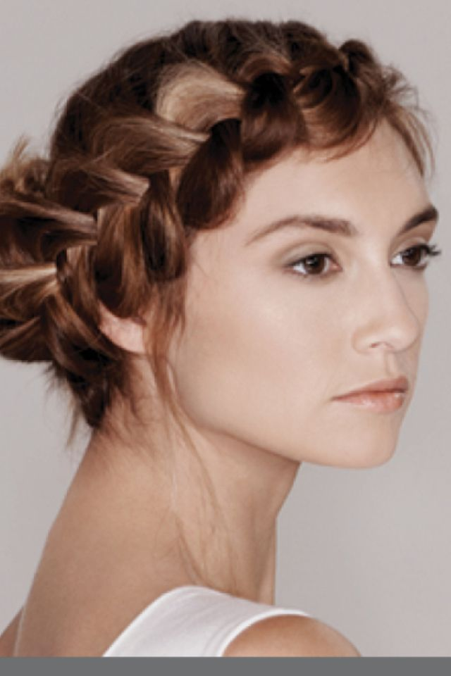 Beautiful Braided Crown Up-do Hairstyle