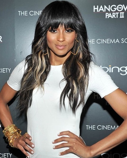 Black Hair with Blonde Highlights for Long Hairstyles