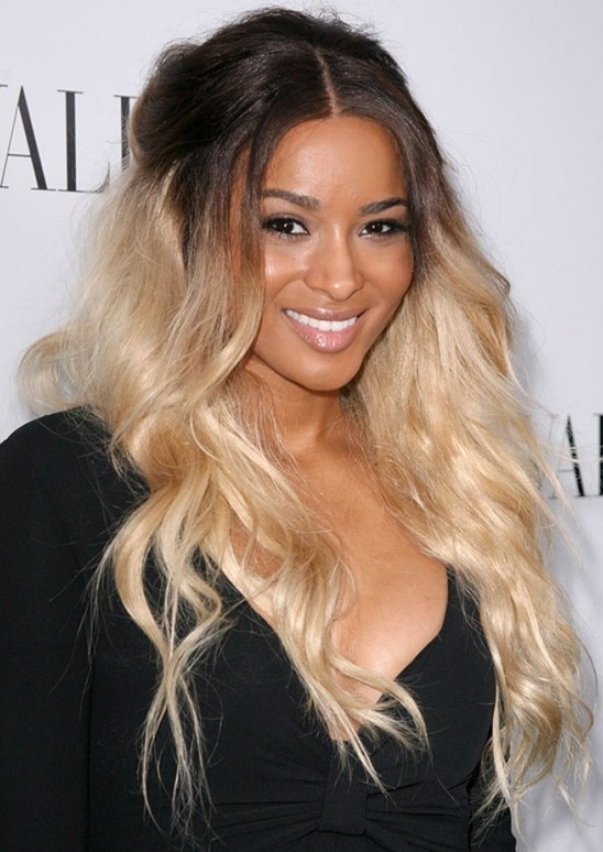 Black Hair Blonde Highlights Hairstyles
