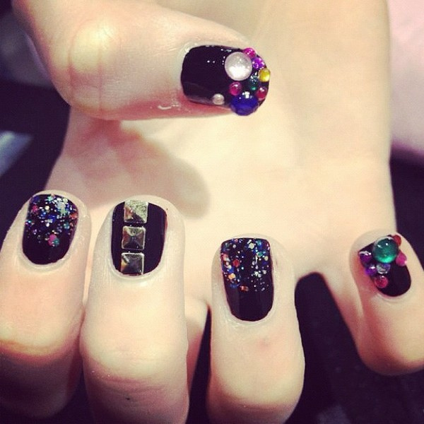 Amazing art on nails 3d nail art collection pretty designs black cool shine prinsesfo Gallery