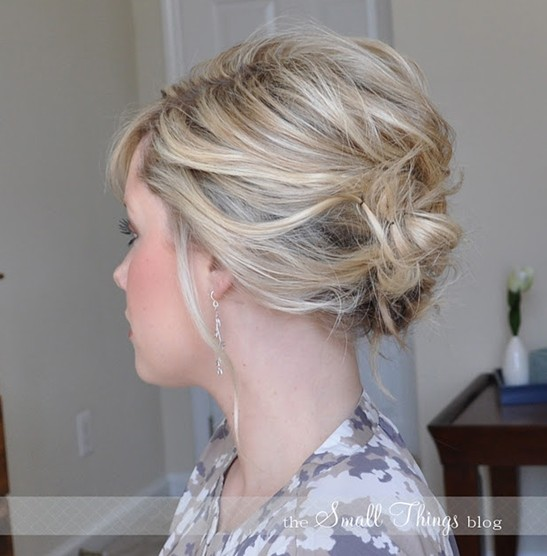 10 Updo Hairstyles for Short Hair - Easy Updos for Women - Pretty ...