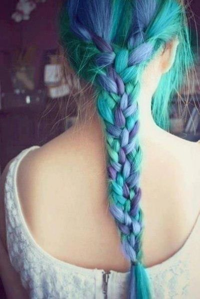 Colorful Braid Hairstyle