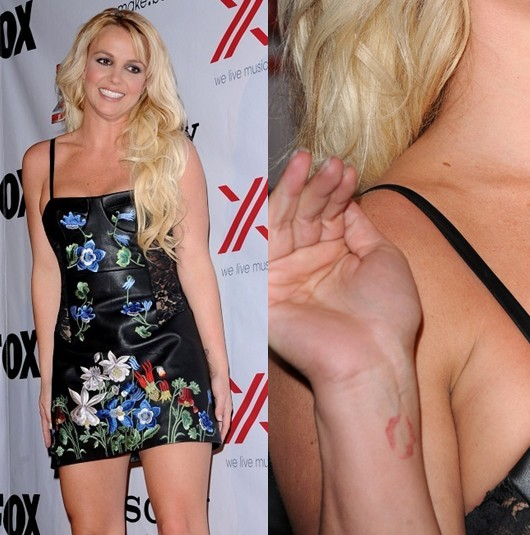 Britney Spears' Tattoos - Artistic Design Tattoo on Forearm