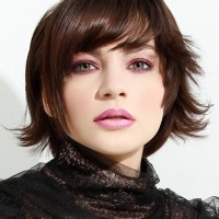 Brown Medium Layered Haircut