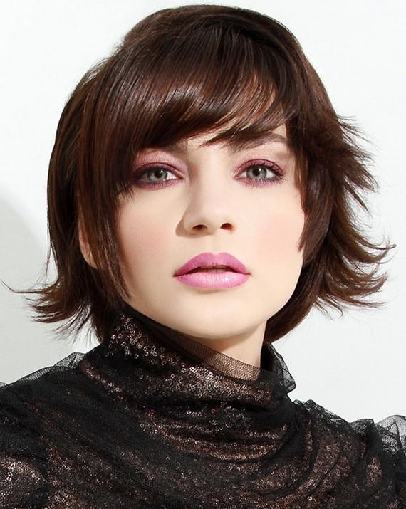 Brown Medium Layered Haircut
