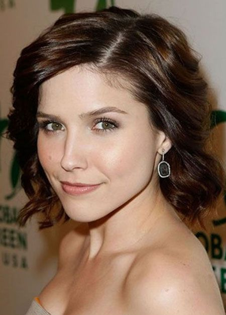 Brown Short Curly Wavy Hairstyle
