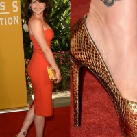 Carla Gugino's Tattoos – Cute Butterfly Tattoo on Calf