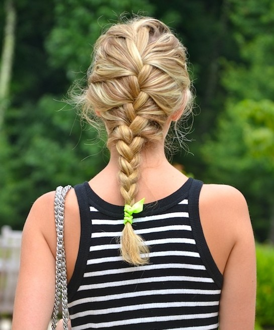 Casual French Braided Hairstyle