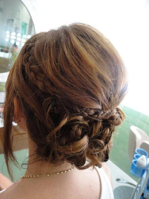 Delicate Braided Updo Hairstyles for Prom