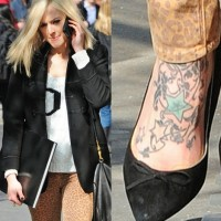 Fearne Cotton's Tattoos - Star Tattoo on Foot