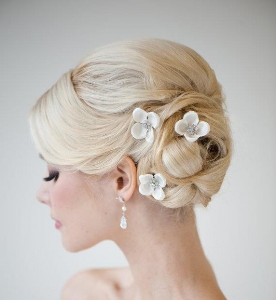 Flowery Updo Hairstyle