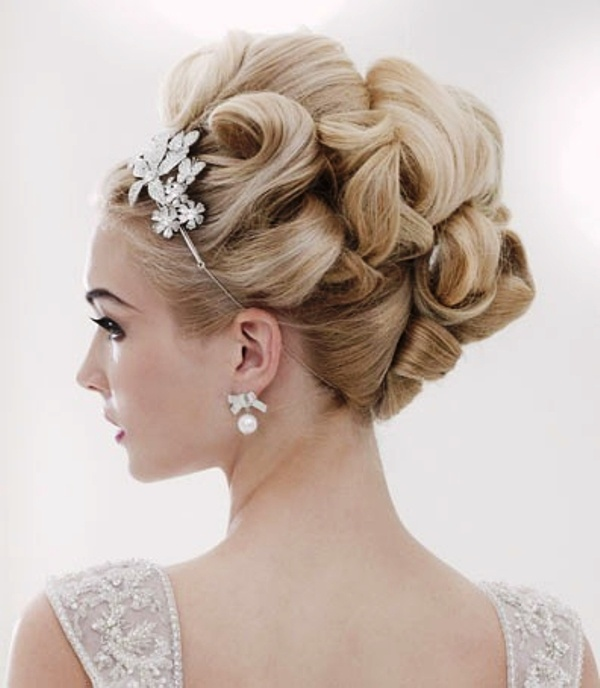 Flowery Up-do Hairstyle