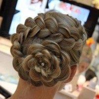 Braided Rose Chignon Updo for Prom - Prom Hair Ideas