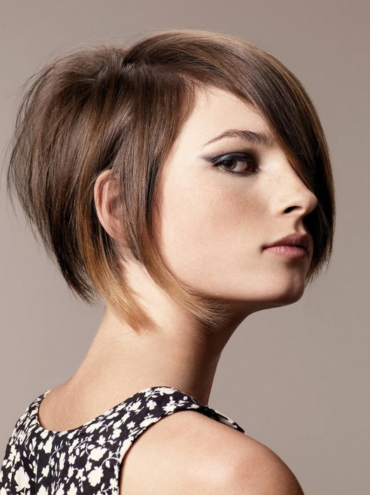 Funky Stacked Bob Haircut - Trendy Short Hairstyles for 2014