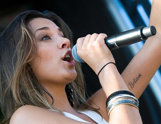 Jana Kramer's Tattoos - Lettering Tattoo on Arm