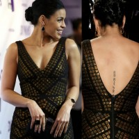 Jordin Sparks' Tattoos - Lettering Tattoo on Spine