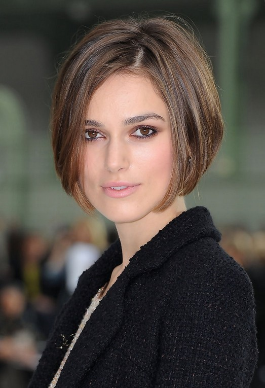 Keira Knightley Short Bob Hairstyle - Stacked Bob Haircut for Women