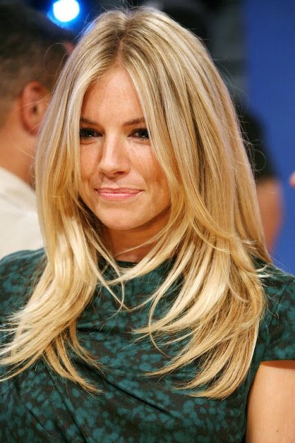 Long Layered Blond Straight Hairstyle