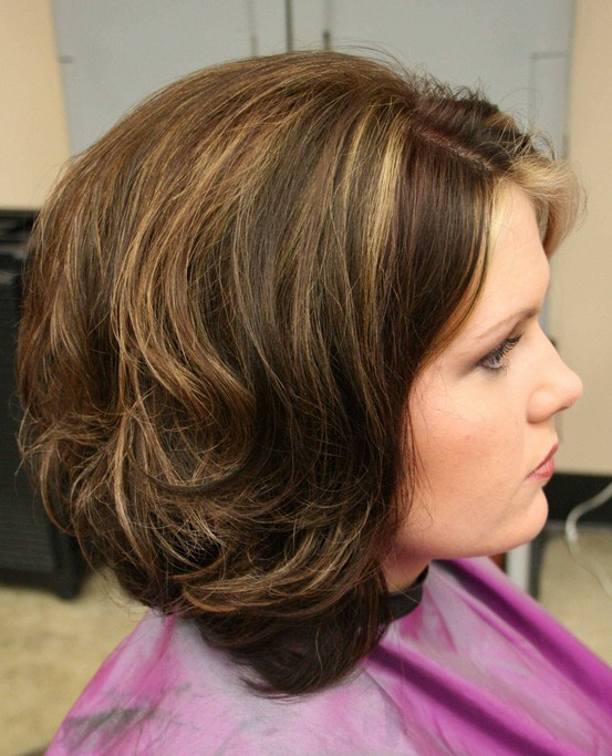 Terrific Long Layered Stacked Bob Haircut For Curly Wavy Hair Pretty Designs Hairstyles For Men Maxibearus