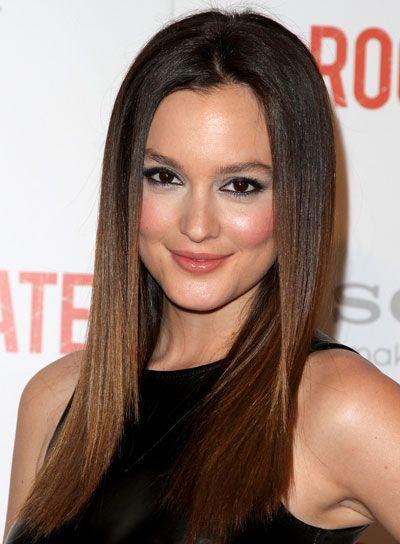 Long Sleek Straight Brunette Hairstyle