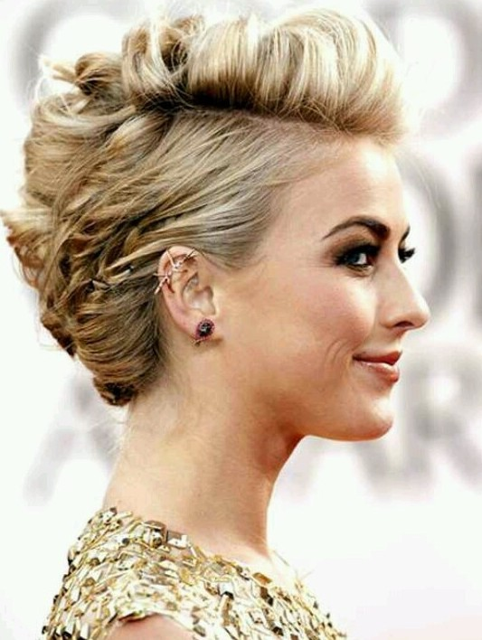 Luscious Messy Updo For Short Hair