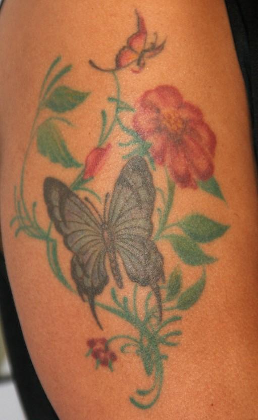 Marsha Ambrosius' Tattoos - Flower Tattoo