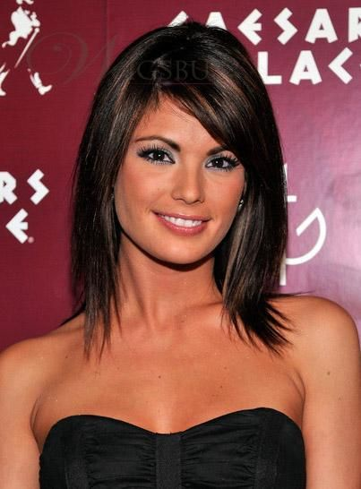 Medium Layered Straight Haircut