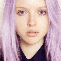 Medium Straight Purple Ombre Hair 2014